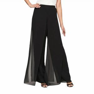 Papell Boutique Evening Black Casual Pants Size 4P